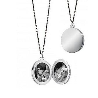 Monica Rich Kosann Sterling Silver Round Simple Locket