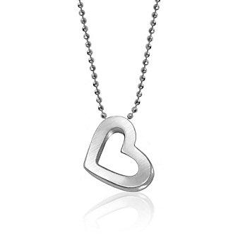 Alex Woo Sterling Silver Elements Heart Pendant