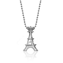 """Alex_Woo_Sterling_Silver_Mini_Addition_Little_Cities_Eiffel_Tower_Pendant,_16"""""""