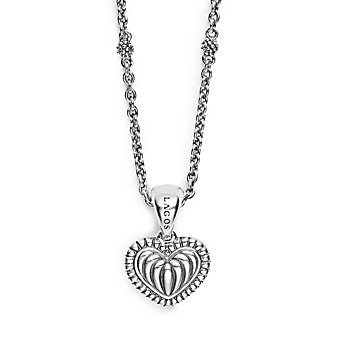 Lagos Beloved Sterling Silver Heart Pendant with Chain