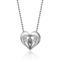"""ALEX_WOO_SS_LITTLE_FAITH_ANGEL_PENDENT_WITH_16""""_CHAIN"""