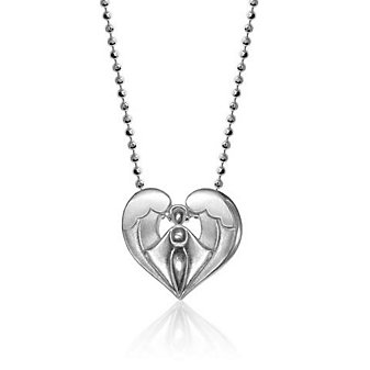"ALEX WOO SS LITTLE FAITH ANGEL PENDENT WITH 16"" CHAIN"