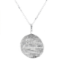 """robin_haley_sterling_silver_round_carved_dolphin_partnership_pendant,_18"""""""