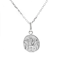 robin_haley_sterling_silver_round_sacred_love_rose_pendant,_18""