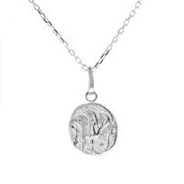 "robin_haley_sterling_silver_round_sacred_love_rose_pendant,_18"""