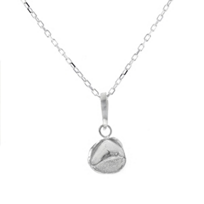 """robin_haley_sterling_silver_round_dolphin_friendship_pendant,_18"""""""