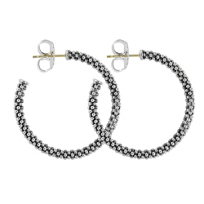 Lagos_Sterling_Silver_Signature_Caviar_Hoop_Earrings