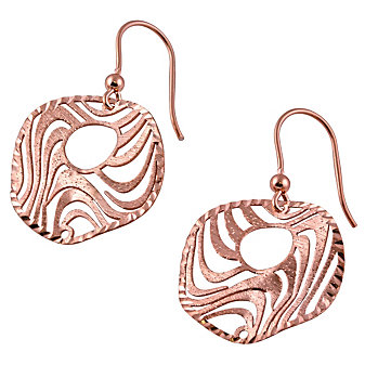 Sterling Silver and Rose Tone Earrings