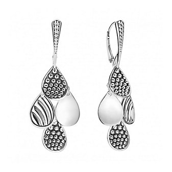 Lagos Sterling Silver Signature Caviar 4 Drop Earrings