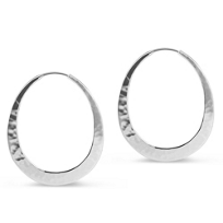 Toby_Pomeroy_EcoSilver_Eclipse_Hammered_Hoop_Earrings,_40mm