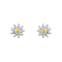 Sterling_Silver_Yellow_&_White_Enamel_Daisy_Flower_Earrings