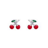 Sterling_Silver_Red_&_Green_Enamel_Cherry_Earrings