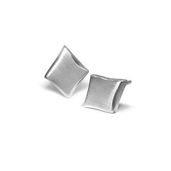Alex Woo Sterling Silver Little Vegas Diamond Shaped Earrings