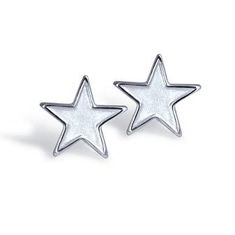 Alex Woo Sterling Silver Little Princess Star Earrings