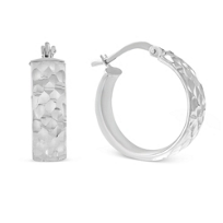 Sterling_Silver_Faceted_Hoop_Earrings