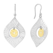 Sterling_Silver_and_Yellow_Tone_Radiant_Spot_Drop_Earrings