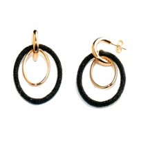 Pesavento_Polvere_di_Sogni_Pink_Sterling_Silver_&_Black_Dust_Double_Oval_Earrings