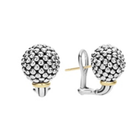 Lagos_Sterling_Silver_&_18K_Yellow_Gold_Caviar_Forever_Beaded_Sphere_Earrings