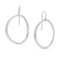 Sterling_Silver_Offset_Open_Oval_Drop_Earrings