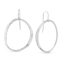 Sterling_Silver_Offset_Hammered_Open_Oval_Drop_Earrings