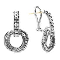 Lagos_Sterling_Silver_Signature_Caviar_3_Circle_Drop_Earrings
