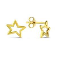 Sterling_Silver_&_Yellow_Tone_Open_Star_Earrings