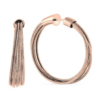 pesavento_rose_tone_sterling_silver_dna_spring_wire_small_hoop_earrings