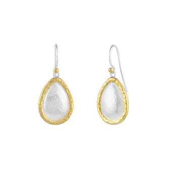 gurhan yellow tone sterling silver layered tear drop earrings