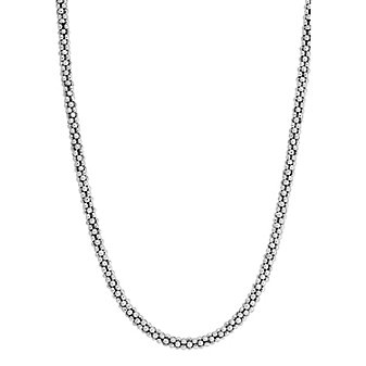 Lagos Sterling Silver Signature Caviar Beaded Necklace
