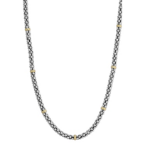 Lagos_Sterling_Silver_&_18K_Yellow_Gold_Signature_Caviar_Beaded_Necklace