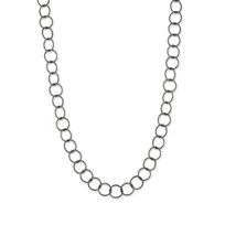 Sterling_Silver_and_Ruthenium_Open_Link_Circle_Necklace,_18""