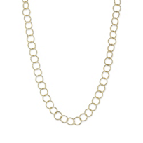 """Sterling_Silver_and_Yellow_Tone_Constellation_Open_Circle_Link_Necklace,_42"""""""