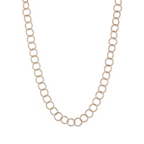 """Sterling_Silver_and_Rose_Tone_Constellation_Open_Circle_Link_Necklace,_42"""""""