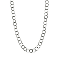"""Sterling_Silver_and_Ruthenium_Constellation_Open_Circle_Link_Necklace,_48"""""""
