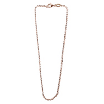 Sterling_Silver_&_Rose_Tone_Flat_Oval_Link_Chain,_24""