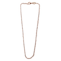 Sterling_Silver_and_Rose_Tone_Flat_Oval_Link_Chain,_30""