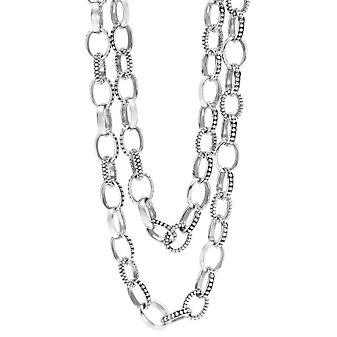 Lagos Sterling Silver Links Necklace