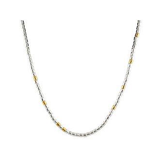 "Gurhan Sterling Silver & 24K Overlay Vertigo Necklace, 17"""