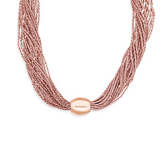 Pesavento DNA Antique Pink Sterling Silver Multi-Strand Necklace, 16""