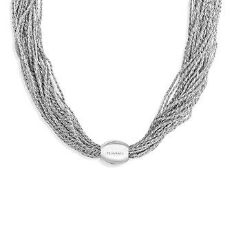 Pesavento DNA Rhodium Sterling Silver Multi-Strand Mesh Necklace