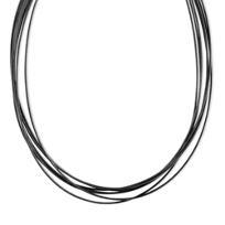 Pesavento_Sterling_Silver_and_Black_Tone_Ruthenium_DNA_Spring_Wire_Thin_Collar_Necklace