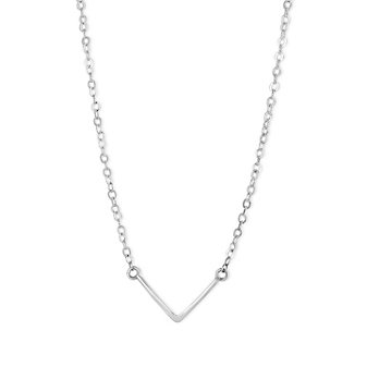 Melissa Joy Manning Sterling Silver V-Shaped Necklace, 18""