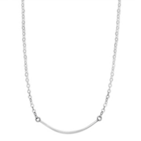Melissa_Joy_Manning_Sterling_Silver_Curved_Bar_Necklace,_18""