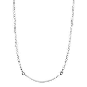 """Melissa Joy Manning Sterling Silver Curved Bar Necklace, 18"""""""