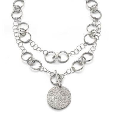 Monica Rich Kosann Vine Pattern Half Locket Necklace