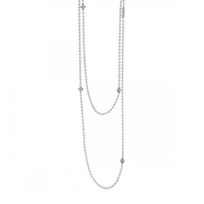 """Lagos_Sterling_Silver_Caviar_Icon_Station_Beaded_Chain_Necklace,_36"""""""