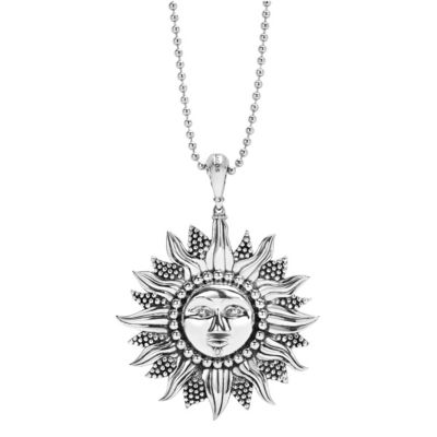Lagos Sterling Silver Rare Wonders Sun Pendant Necklace