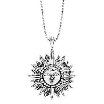 Lagos Sterling Silver Rare Wonders Sun Pendant Necklace