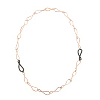 Pesavento_Rose_Tone_Sterling_Silver_Infinity_Black_Dust_Necklace