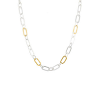 """gurhan_yellow_tone_sterling_silver_layered_mango_hammered_link_necklace,_18"""""""